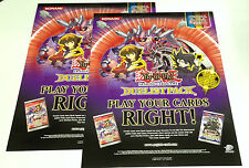 2x Lot Yu-Gi-Oh Duelist Pack GX 2-Sided Glossy Poster Official Konami Not Folded