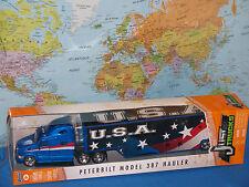 "JADA JUST TRUCKS PETERBILT MODEL 387 HAULER U.S.A. FLAGS 14"" BRAND NEW & RARE"