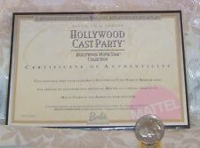 MATTEL HOLLYWOOD CAST PARTY BARBIE DOLL CERTIFICATE OF AUTHENTICITY COA ONLY