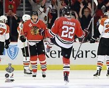 TROY BROUWER & MARIAN HOSSA 2010 Chicago Blackhawks STANLEY CUP 8x10 photo