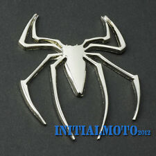 Sedan Metal Spider Silver Chrome Badge Tank Pad Sticker Logo Emblem Marker Decal