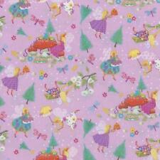 Magical Fairies Fairy Pink Green Blue Purple Floral Daisy Cottage Stars Fabric