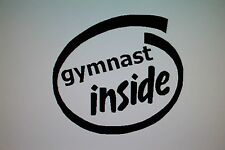 """gymnast inside"" Decal Sticker Gymnastics"