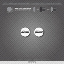 6085 - Saracen Bicycle Handlebar Bar End Plug Stickers - Decals