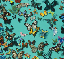 DESIGNERS GUILD/CHRISTIAN LACROIX FABRIC  BUTTERFLY PARADE LAGON FCL025/04