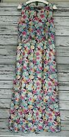 Savage Women's Maxi Long Floral Summer Sleeveless Dress Size L Multi-Color