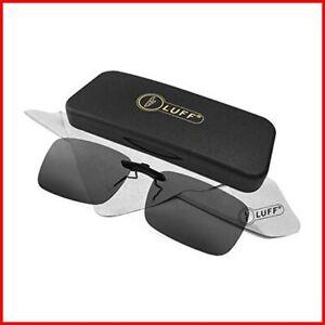 Polarized Unisex Clip on Sunglasses for Prescription Eyeglasses-Good Clip Style
