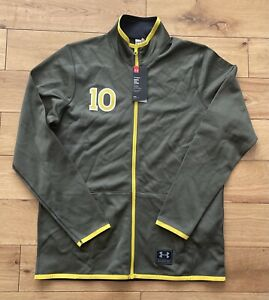 Under Armour X PELE #10 Men's Brazil Brasil Football Track Jacket New Size L