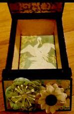 Asian Decor Wood Storage Box-Trinket Jewelry Vintage Oriental Mary Jane Stash