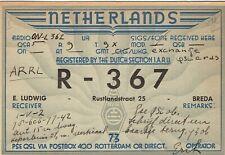 Very old QSL from E. Ludwig, Rustlandstraat, Breda (R-367) Years 1925/40