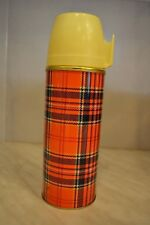 Thermos bouteille isotherme vintage Ching kiang décor tartan écossais