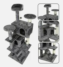 """New listing 53"""" Sturdy Cat Tree Tower Activity Center Large Playing House Condo For Rest"""