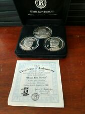 "Bradford Exchange ""Home Run Heroes"" 3 Silver Coin Set- Ruth, McGwire, Maris"