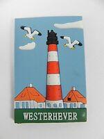 Magnet Leuchtturm Westerhever Deutschland Germany,Souvenir Gummimagnet
