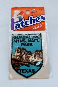 Vintage 1991 Guadalupe Mountains National Park Shield Patch In Original Package