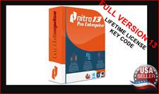 Nitro 13 Pro Enterprise Latest Version Lifetime License Key Code PDF Editor