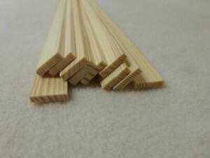 10Stk 90cm Rechteckleiste Kiefer 3x13mm Rechteck Holzleisten
