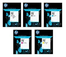 5 x Originale HP Cartucce Nr. 72 DesignJet T610 T620 T790 T1100 T1300 Cartridges