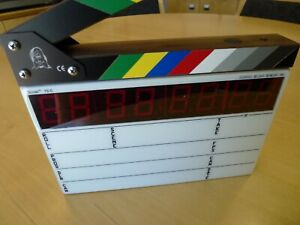Denecke TS-C Compact Timecode Slate, Color Clapper, Backlit, Movie Director NEW