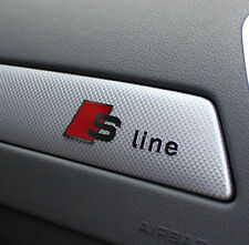 NEW RS S Line Emblem 3D Sticker For Audi Sports A1 A3 A4 A5 A6 A7 A8 S8 Q3 Q5 Q7