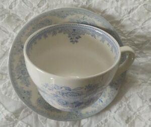 Burleigh Asiatic Blue Pheasant  Tea Cup And Saucer