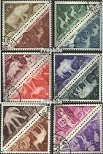 Tschad P23-P34 Paare (komplette Ausgabe) gestempelt 1962 Prähist. Felsgravierung