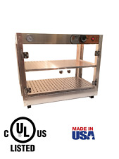 HeatMax 24x15x20 Commercial Food Warmer, Patty Pizza Pastry Display