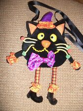 Vintage Halloween Black Cat Purse coin, bag