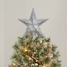 "Christmas Tree Topper Star Lighted Projection Led 11.4"" Holiday Time Silver"