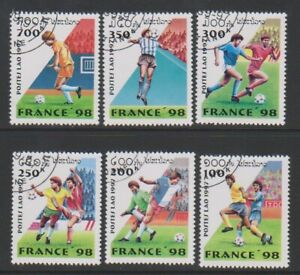 Laos - 1997, World Cup Football set - CTO - SG 1589/94 (e)