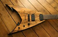 Siggery Fury Custom Built Flying V Black Machine Head Jacks** Iban**