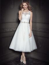 Lace Boat Neck Tulle Wedding Dresses