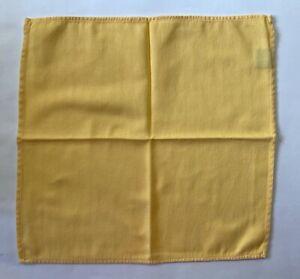 """12 RALPH LAUREN Napkins 17"""" Square Yellow Herringbone Striped"""