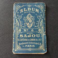 SAJOU - Album n°8 Miniature Alphabet Couture Mercerie Sewing Embroidery 1900