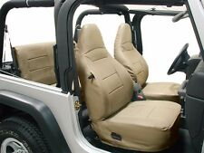 JEEP WRANGLER TJ SAHARA 1997-2002 BEIGE IGGEE S.LEATHER SEAT COVER