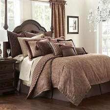 Waterford TABRIZ 7P King Comforter Shams Set Mulberry Plum Copper