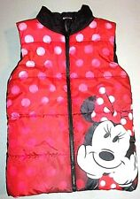 Disney Toddler Girls 5 Minnie Mouse Full Zip Outerwear Puffer Vest Flawless Ec