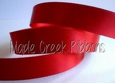"""Double Face Polyester Satin Ribbon 1/8"""" x 5 yd ANY COLOR Finished Edge"""