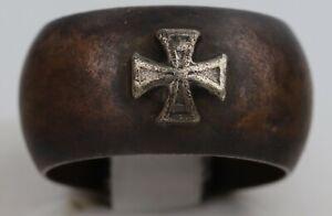 ww2 GERMAN Ring STERLING Silver IRON Cross WWII or WW1 wwI GERMANY Trench ART