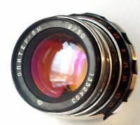 1973 Fast Zebra JUPITER-8 50/f2 for Leica FED Zorki M39 Lens + Cap + Box