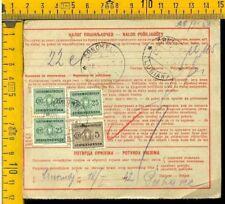 Regno Colonie Occupazioni Lubiana V 728 bollettino pacchi tassato