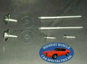1967 Camaro Firebird Wing Vent Window Frame Channel Mounting Bolt & Screw Kit RG