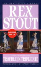 Nero Wolfe Ser.: Trouble in Triplicate by Rex Stout (1993, Mass Market)