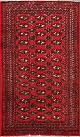 Geometric Traditional Turkoman Hand-knotted Area Rug Wool Oriental Carpet 3'x4'