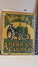 John Deere green and yellow metal sign