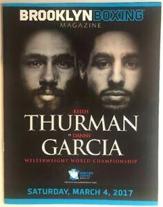 Keith Thurman vs Danny Garcia onsite program BROOKLYN BOXING