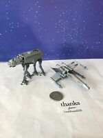 Micro Machines Star Wars Action Fleet PROTOTYPES X-Wing & AT-AT LOT OF 2