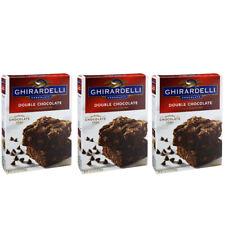 Ghirardelli Premium Brownie Baking Mix 18 oz Double Chocolate x3 Boxes Packs Lot