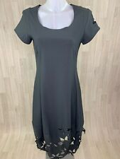 RUNDHOLZ Black Label • Charcoal Green Grey Cut Out Floral Midi Dress • Size S