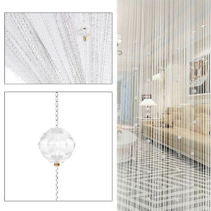 Crystal Beaded String Door Curtain Beads Room Divider Fringe Window Panel Drapes